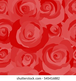 Vintage, retro. Trendy print. Beautiful pattern for decoration and design. Exquisite pattern for design with rose flowers. Seamless watercolor pattern with red roses.