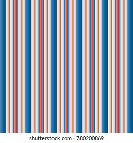 VINTAGE retro  usa Color style seamless stripes pattern. Abstract vector background.