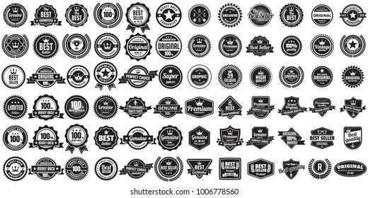 Vintage Retro Vector Logo for banner, poster, flyer