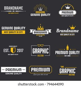 Vintage Retro Vector Logo for banner, poster, flyer