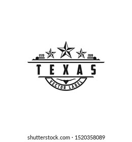 Vintage Retro Western Country Emblem Texas Logo design - Vector