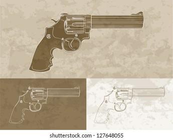 Vintage revolver (3 variation)
