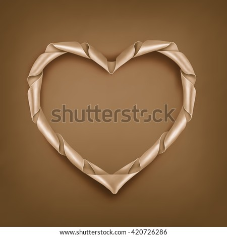 Vintage Ribbon Heart Shaped Frame Template Stock Vector Royalty