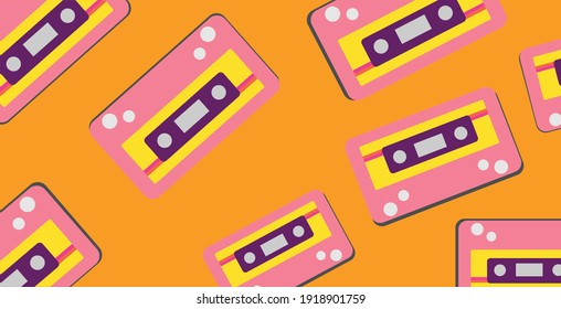 vintage ribbon pattern seamless vector theme. For textile prints, web, room wall decorations, cell phone wallpapers and vectors etc.eps 10
