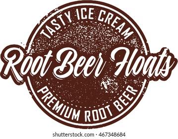 Vintage Root Beer Float Sign