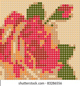 vintage-rose-pixelart-260nw-83286556 Pixel Art 9x9 @koolgadgetz.com.info