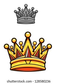 Vintage royal crown in cartoon style for heraldry design, such as idea of logo. Jpeg version also available in gallery