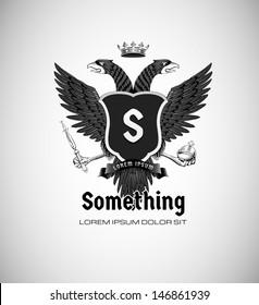 vintage royal emblem with eagle