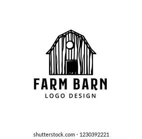 vintage rustic wooden barn or a bird house vector logo design inspiration or illustration template