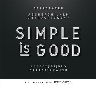 Vintage sans serif alphabet. Retro typography font classic style