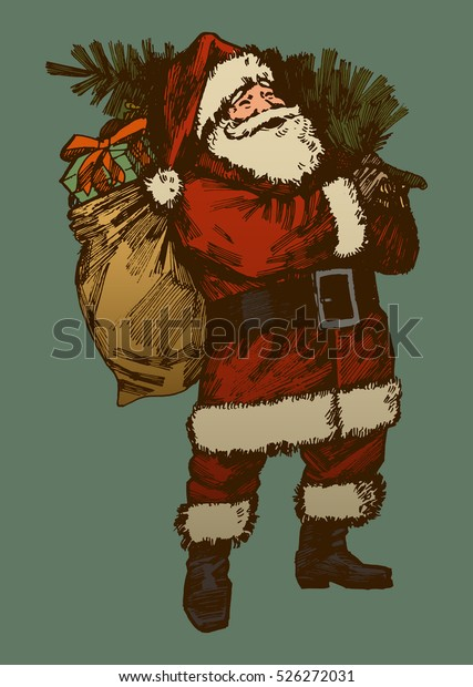 vintage-santa-claus-drawing-retro-600w-5