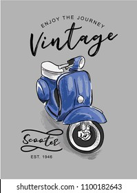 vintage scooter illustration