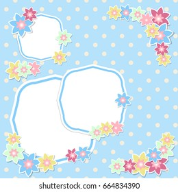 vintage scrap booking template kid party stock vector royalty free