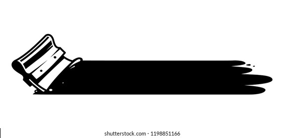Vintage screen printing squeegee concept in monochrome style isolated vector illustration