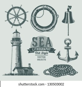 Vintage sea objects