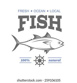 Vintage seafood logo restaurant label