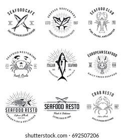 Vintage Seafood Restaurant Logo