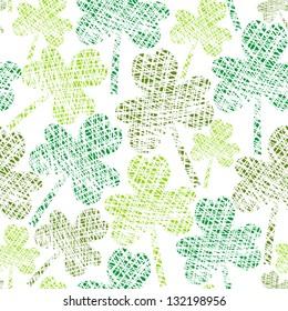 vintage seamless clover pattern