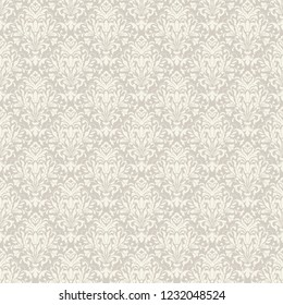 Vintage seamless damask pattern. Tile. Hand drawn background. Wallpaper in Turkish style. Islam, Arabic, Indian, Ottoman motif. Template greeting card, invitation, advertising banner, brochure.