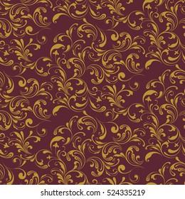 Vintage seamless floral pattern. Decoration fabrics, interior. Handmade.