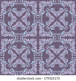 Vintage seamless pattern with abstract floral shapes. Seamless in any directions. Vector file is EPS8, all elements are grouped. Drop into your AI swatches and use as fill. Very easy to change colors.