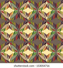 Vintage seamless pattern. Autumn theme.
