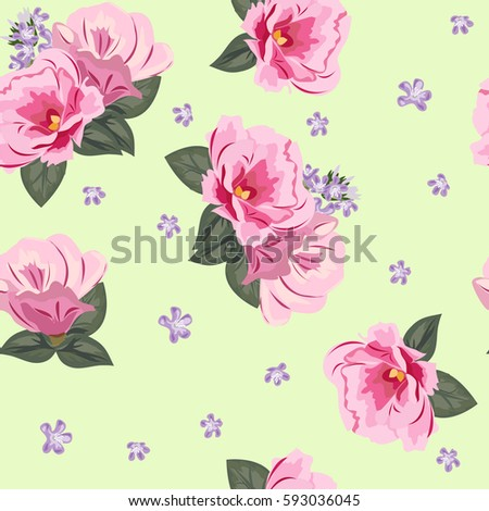 Vintage seamless pattern cute pink flowers stock vector royalty vintage seamless pattern with cute pink flowers hand drawn floral background for textile mightylinksfo