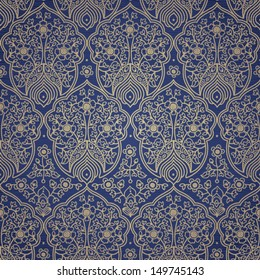 Vintage seamless pattern with lacy ornament. It can be used for wallpaper, pattern fills, web page background, surface textures.