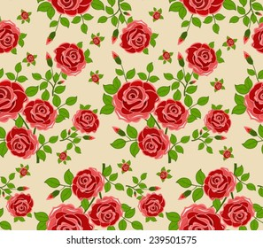 Vintage seamless pattern for retro wallpapers. Abstract background with flowers. Fashion vector illustration texture.