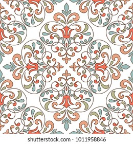 Vintage seamless pattern. This is file of EPS10 format.