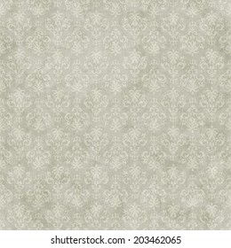 Vintage seamless simple pattern background on subtle grunge wallpaper texture