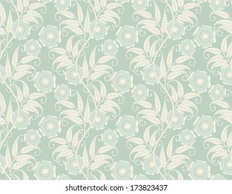 Vintage seamless wallpaper with flowers