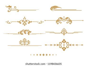 Vintage Set. Floral elements for design monograms, invitations, frames, menus and labels. Graphic design of the website, cafes, boutiques, hotels, wedding invitations.