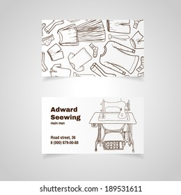 Sewing machine business card images stock photos vectors vintage sewing machine modern simple light business card template reheart Image collections