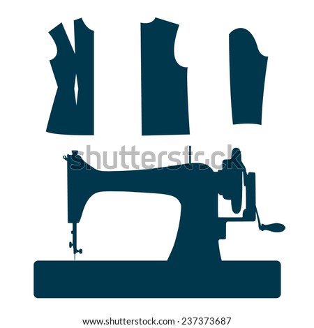 Vintage Sewing Machine Sewing Pattern Label Stock Vector Royalty