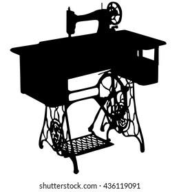 vintage sewing machine silhouette