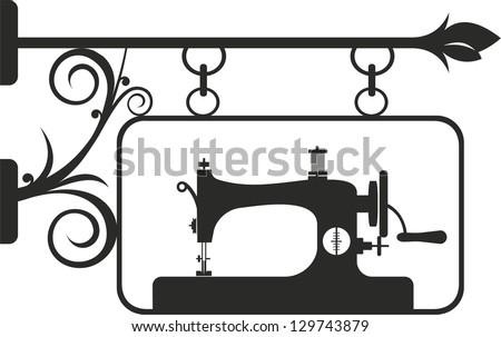 Vintage Sewing Machine Vector Illustration Stock Vector Royalty Inspiration Sewing Machine Vector Free