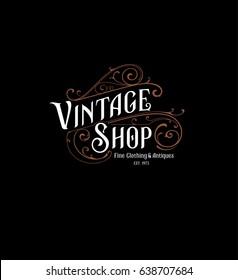 Vintage Shop Logo