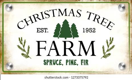 Vintage sign for Christmas Tree Farm vector