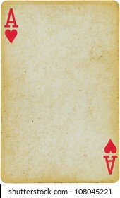 vintage simple background : playing card -  ace of hearts