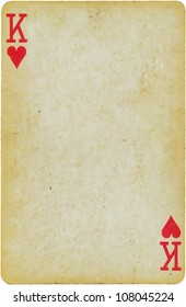 vintage simple background : playing card - king of hearts