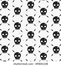 Vintage Skulls pattern. Template for your wallpaper, t-shirt, brand, apparel, background, label, cover, business and art works.