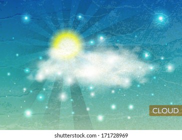 Vintage Sky background. Clouds