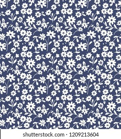 vintage small flowers seamless pattern.