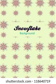 Vintage snowflake pattern