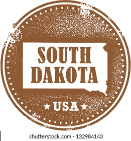 Vintage South Dakota USA State Stamp