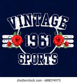 Vintage Sport vector T-shirt graphic design