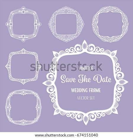 Vintage Square Frames Art Deco Borders Stock Vector Royalty Free