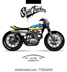 Vintage Srambler Motorcycle Poster