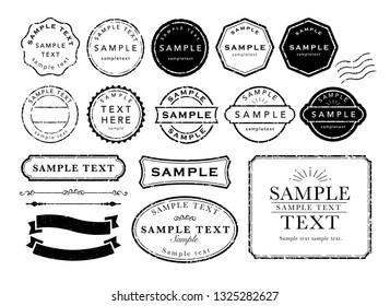vintage  stamp frame